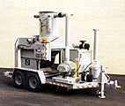 60 HP LPG Over-The-Road Trailer Mounted Vacuum With 2-1/2 Yard Roll-Dump Collection Hopper
