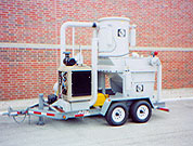 75 HP Diesel Over-The-Road Trailer Mounted Vacuum With 1-1/2 Yard Roll-Dump Collection Hopper